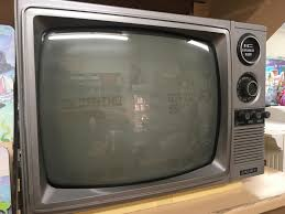 Screen Toaster Cctv Camera Locations Burned Into The Screen On This Old Tv Set