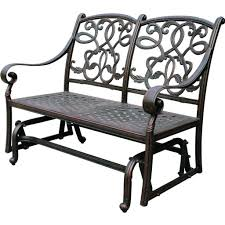 Retro Metal Patio Chairs Furniture Classic Green Painted Metal Porch Glider Awesome