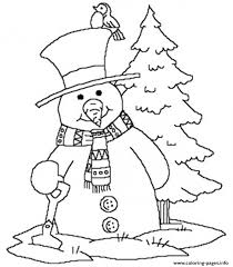 snowman winter free369d coloring pages printable