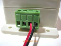 connecting single color led lights to a terminal block