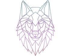 simple geometric wolf design wolves