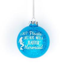 glitter mermaid ornament salty pirate decor