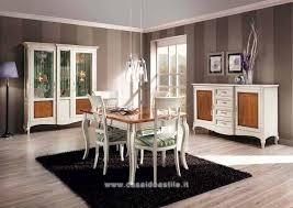 pareti sala da pranzo gallery of sala da pranzo classica bicolore pareti attrezzate a