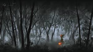 halloween background 1280x720 artwork fantasy art halloween pumpkin forest wallpapers hd