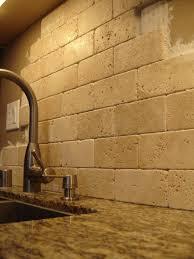 Kitchen Tidy Ideas Kitchen Travertine Tile Backsplash Ideas For Behind The Stove Home