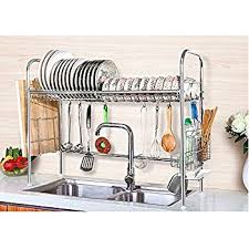 Kitchen Drying Rack For Sink by Amazon Com Nex Dish Drying Rack Stainless Steel Dish Storage With