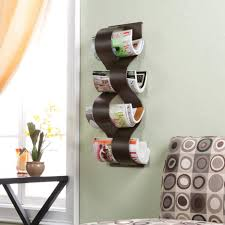 furniture magazine holder wooden bathroom storage metal rack