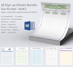 sign in sheets templates virtren com up sheet template word free