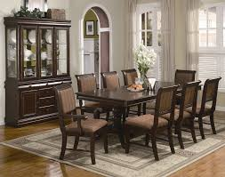 traditional merlot 9pc formal dining set