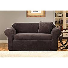 Sofa Slipcovers Sure Fit Amazon Com Sure Fit Stretch Metro 2 Piece Sofa Slipcover