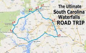 sc highway map the ultimate south carolina waterfalls road trip