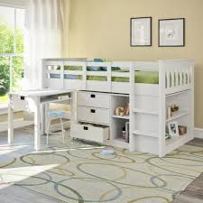 Bunk Beds  Twin Over Queen Bunk Bed With Stairs Twin Loft Bed - Queen bunk bed with desk