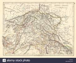 Punjab India Map by British India North Jammu Kashmir Punjab Himalayas Johnston