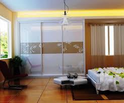 Decorative Sliding Closet Doors Furniture Glass Sliding Closet Door Options With White Bed Modern