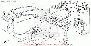 honda gl1100 goldwing aspencade 1983 d usa fuel tank cover