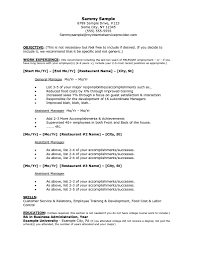 Exles Of Server Resume Objectives Restaurant Resume Sle Resume Resume