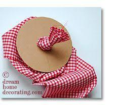 Handmade Fabric Crafts - how to make a fabric bag doorstop with a footprint craft