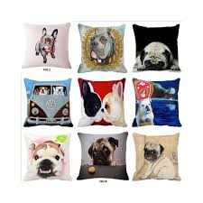 pug home decor online shop 18 x 18 french bulldog pug dog decorative throw