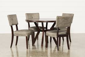 macie 5 piece round dining set living spaces macie 5 piece round dining set 360