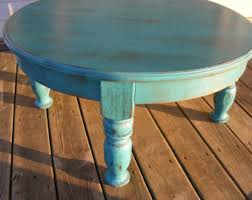 Tall Coffee Table Coffee Table Beautiful Funky Handcrafted Distressed Turquoise 36