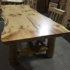 Slab Dining Table by Rustic Pine Slab Massive Log Dining Table With Bench Set