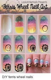 Meme Nail Art - lookathernails presents wheel nail art diy ferris wheel nails meme