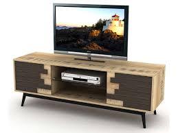 pied de canapé conforama meuble tv 140 cm ethnica coloris gris noir pieds en métal vente