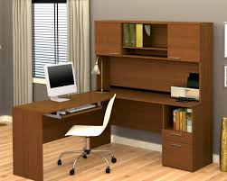 desks at office max furniture l shaped desk with hutch for more efficient workspace