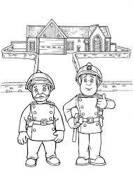 fireman sam senior fire officer steele coloring
