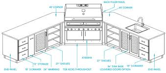 impressive ideas outdoor kitchen design plans on home homes abc
