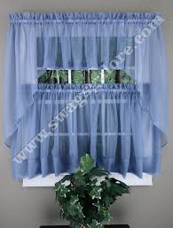 Cafe Tier Curtains Elegance Sheer Voile Swag Pair Tier Curtain Panel Insert