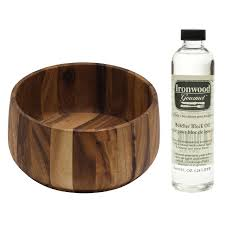 kitchen accessories costco ironwood tulip salad bowl with butcher block oil