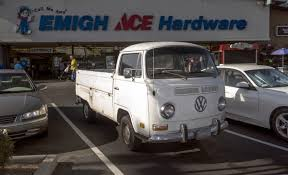 vw truck free images fog road volkswagen van driving transport