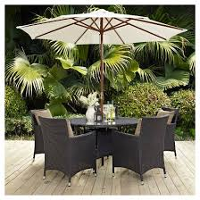 Patio Dining Set With Umbrella Projects Idea Modway Outdoor Furniture Replacement Cushions Covers