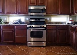 Pictures Of Kitchens Traditional Dark Wood Kitchens CherryColor - Cherry cabinet kitchen designs