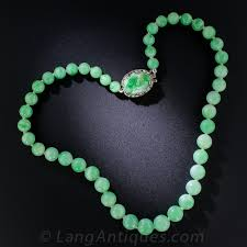 natural jade necklace images Graduated jade bead necklace jpg