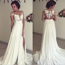 stylish wedding dresses modern stylish chiffon wedding dresses cheap sheer neck lace