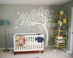 white tree wall decal nursery tree sticker baby room wall art white tree wall decal nursery tree sticker baby room wall art decor mural kw032 ebay