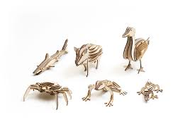 3d wood puzzle animals collection the makery