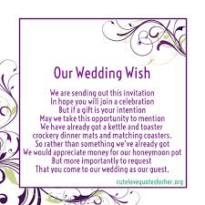 wedding gift quotes for money quotes for a wedding gift imbusy for
