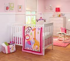 crib bedding for girls on sale nojo infant u0027s 4 piece crib bedding set pink jungle