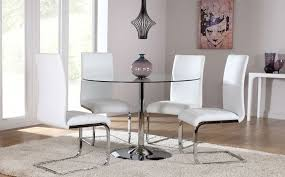 contemporary round white dining room sets table set in with for