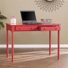 southern enterprises writing desk southern enterprises janice farmhouse 2 drawer writing desk in red