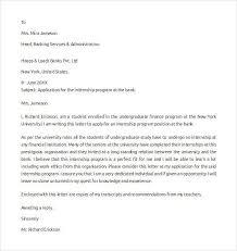 samples of internship cover letters cover letter for internship