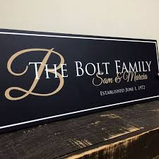 Custom Signs For Home Decor Family Established Sign Personalized Family Name Sign Last Name