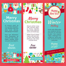 happy new year invitation happy new year invitation vector template flyer set stock vector