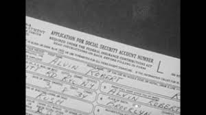 social security help desk man filling out social security card application form stock video