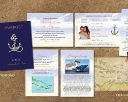 cruise wedding invitations idowithyou etsy