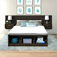 King Headboard With Storage Headboard With Storage Contemporary Bedroom With Drawers And