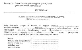 contoh surat pernyataan format a1 ops sekolah dasar contoh surat